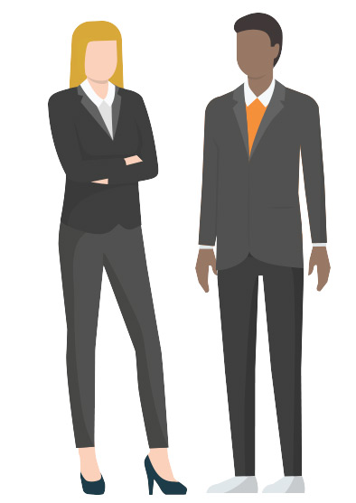Vector illustration of business professionals