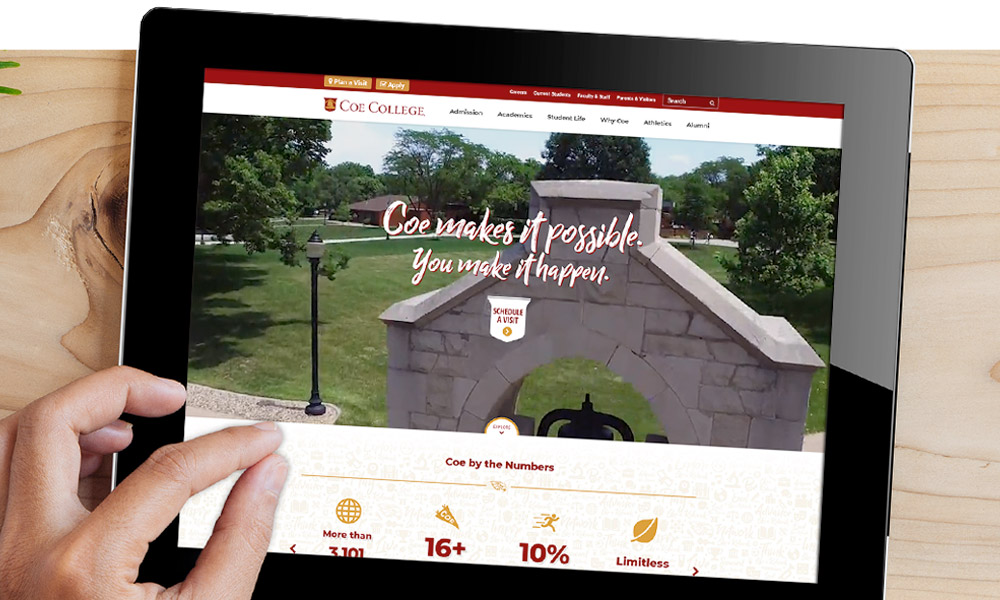 Coe College Website Portfolio