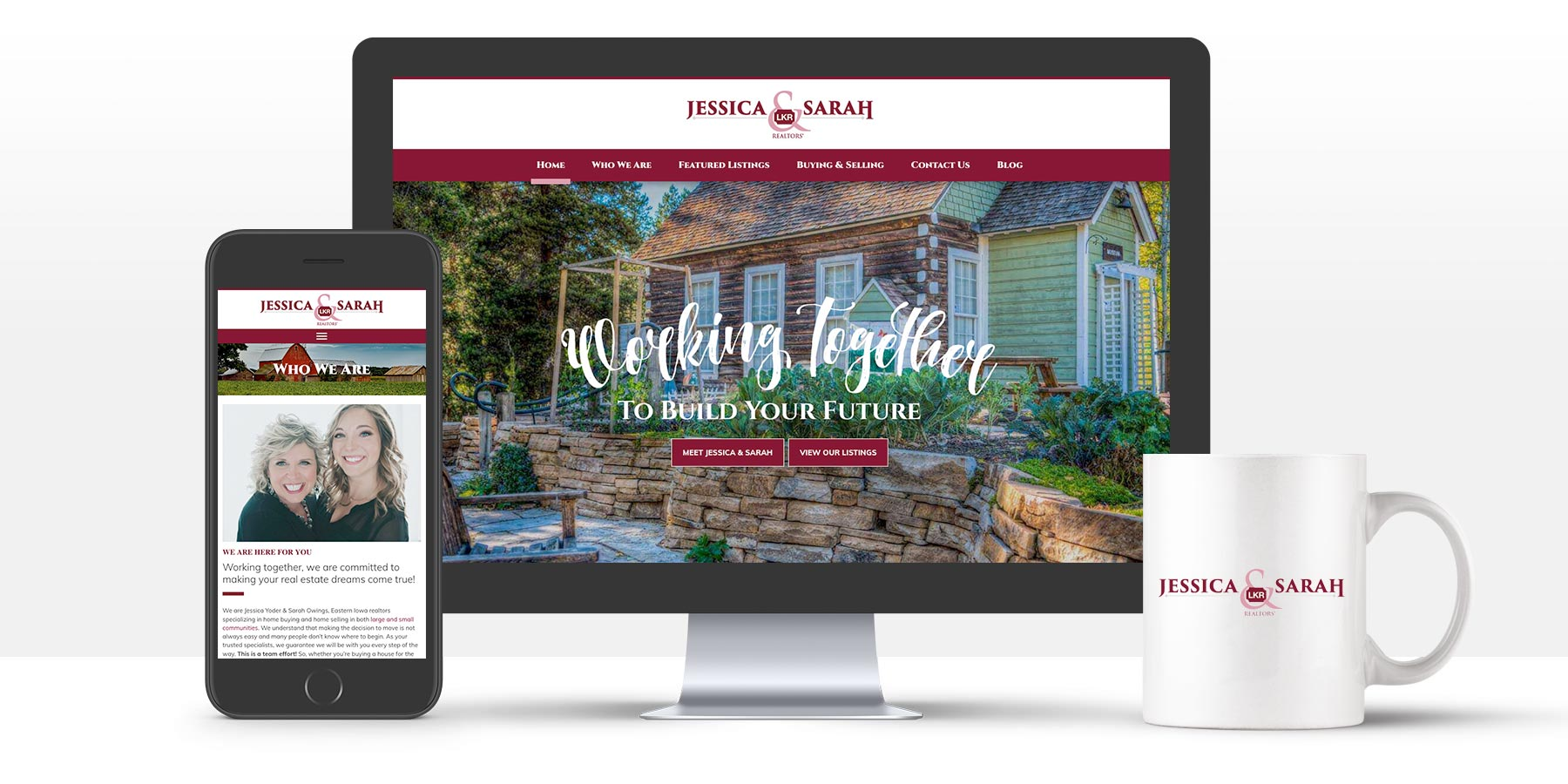 Jessica and Sarah Realtor website in desktop and mobile