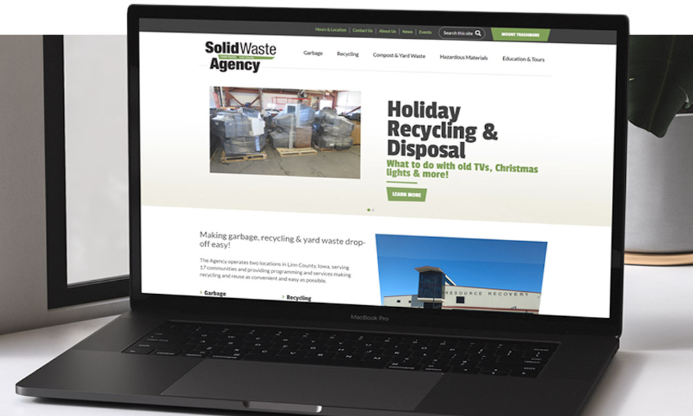 Solid Waste Agency Website Portfolio