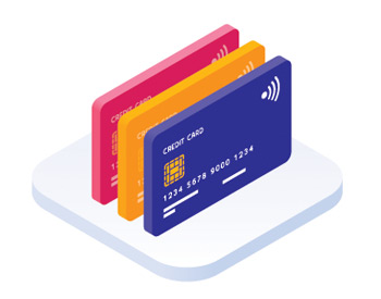 3D icon of credit cards