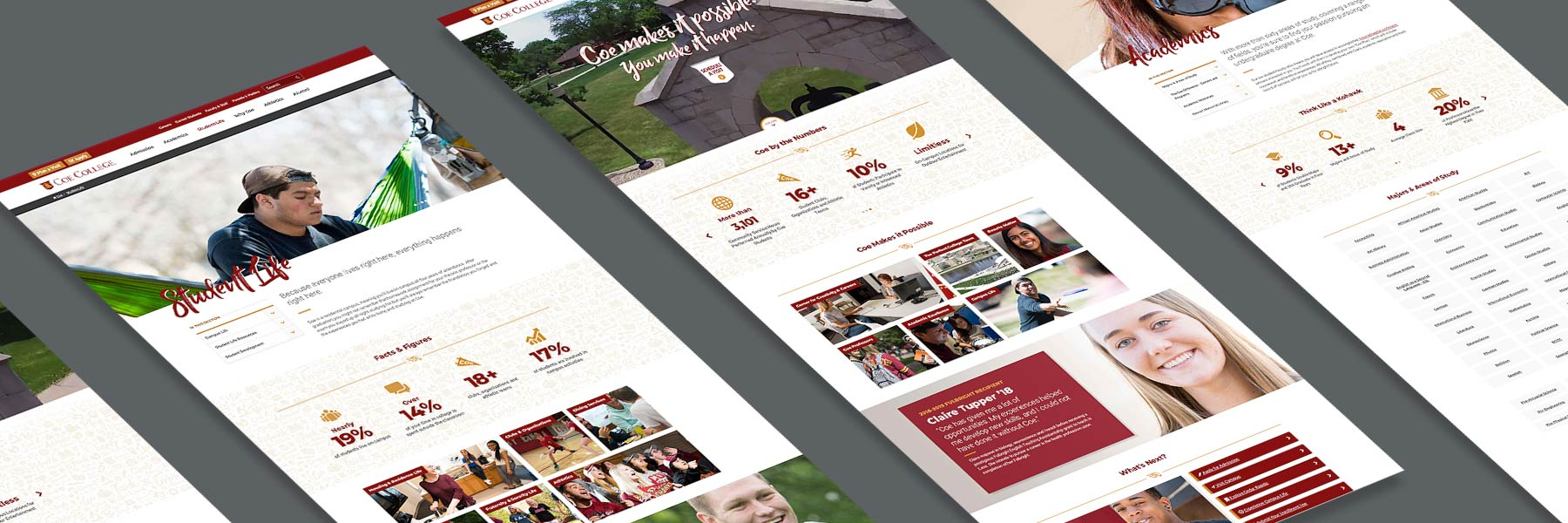Coe College Website Pages