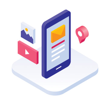 3D icon of a mobile ecommerce experience