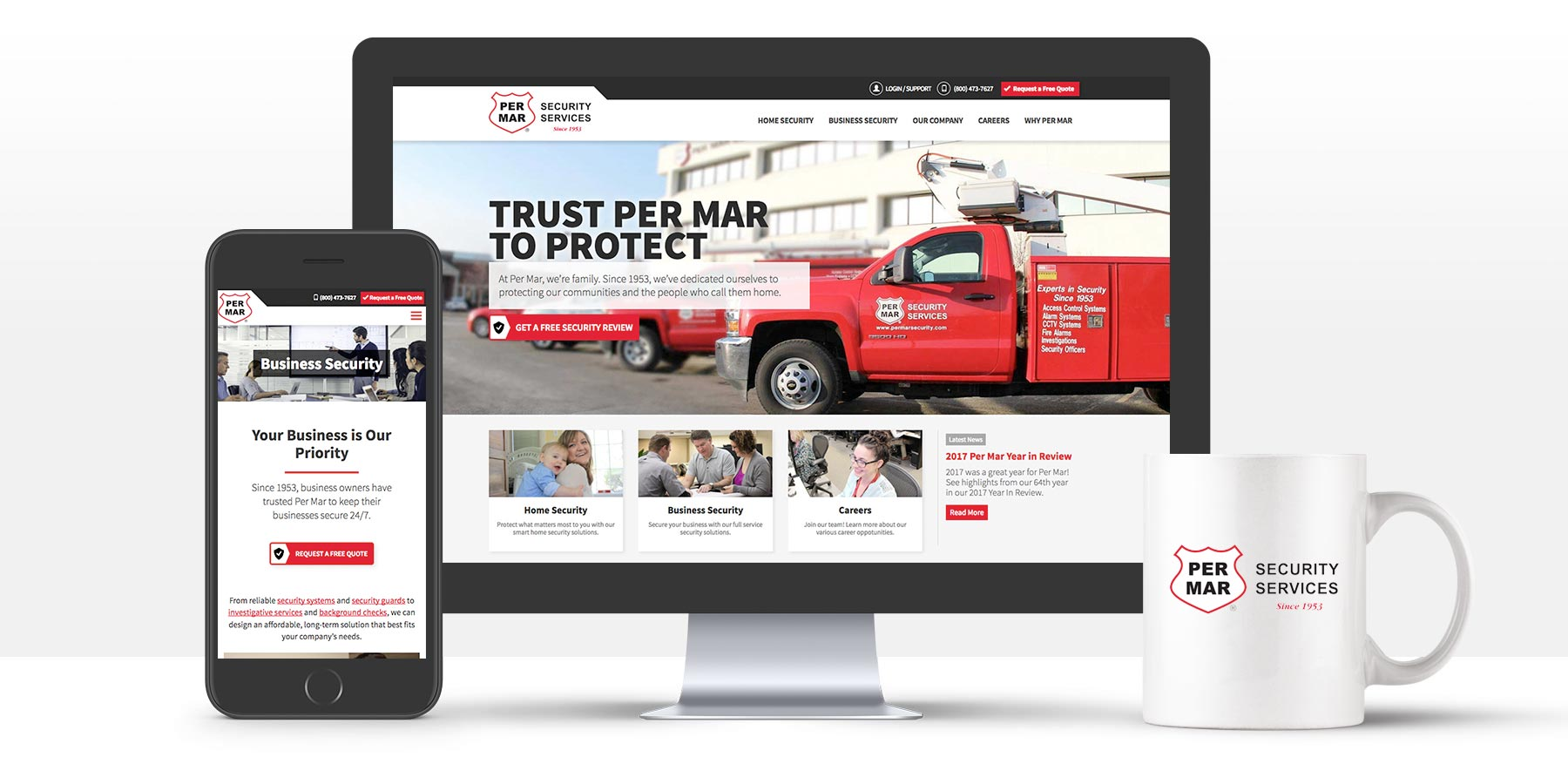 A Modern Redesign for Per Mar Security Services