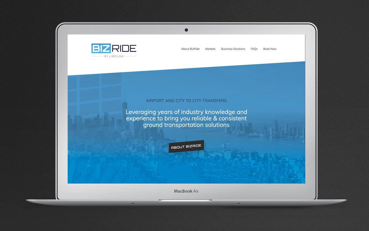 Biz-Ride website example