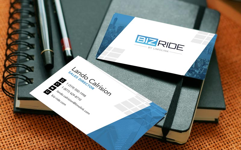 Biz-Ride card example