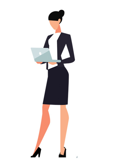 Vector drawing of a business woman