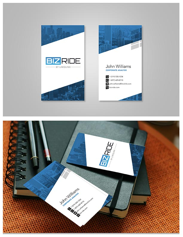 BizRide business card branding